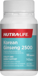 Nutralife Korean Ginseng 2500mg 50 caps