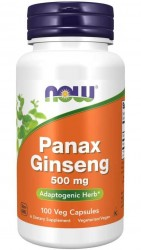Panax Ginseng 500mg 100 vegecaps Now