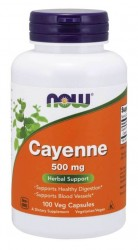 Cayenne 500mg 100 vegecaps Now